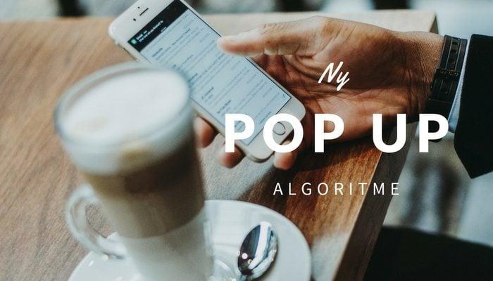 Pop up algoritme