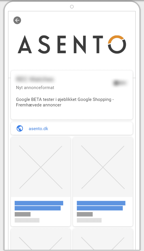Google shopping, showcase annoncer