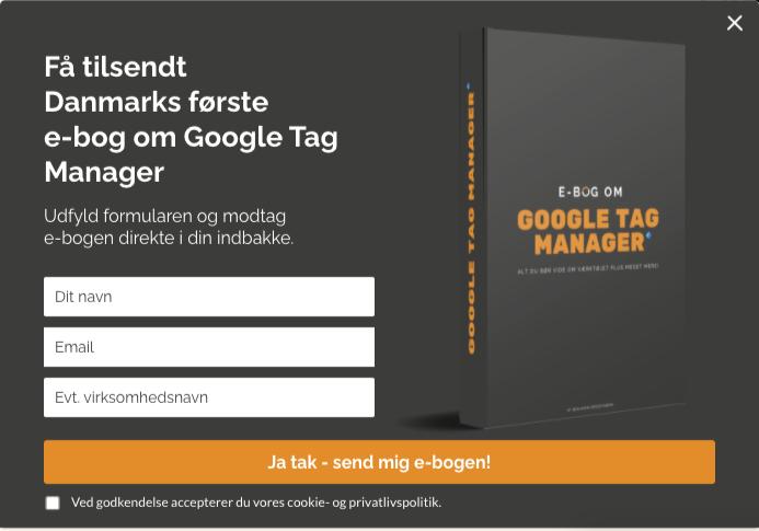 e-mail marketing sleeknote